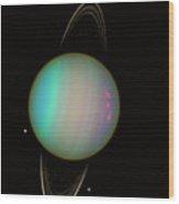 Uranus Wood Print by Nasaesastscie.karkoschka, U.arizona
