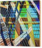 Urban Abstract 123 Wood Print
