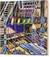 Urban Abstract 172 Wood Print