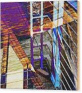 Urban Abstract 224 Wood Print