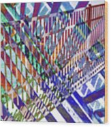 Urban Abstract 352 Wood Print