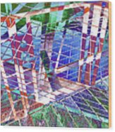 Urban Abstract 411 Wood Print