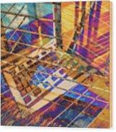 Urban Abstract 423 Wood Print