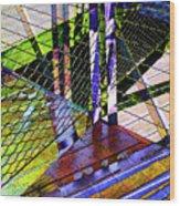 Urban Abstract 466 Wood Print
