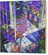Urban Abstract 476 Wood Print