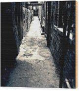 Urban Alley Wood Print