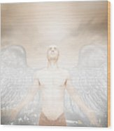 Urban Angel Wood Print
