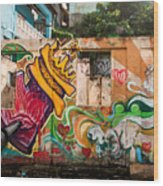 Urban Art 1 Wood Print
