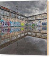 Urban Art Reflection Wood Print