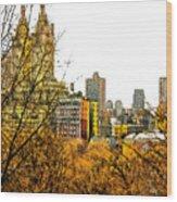Urban Autumn In Nyc Wood Print