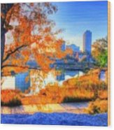 Urban Autumn Paradise Wood Print