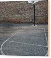 Urban Basketball Street Ball Outdoors Wood Print
