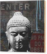Urban Buddha 4- Art By Linda Woods Wood Print