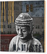 Urban Buddha  Wood Print