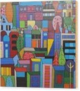 Urban Cityscape 1 Wood Print
