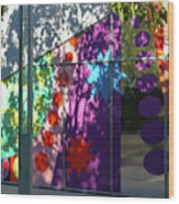 Urban Color - Afternoon Shadows Wood Print