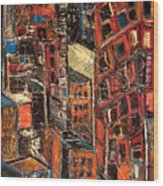 Urban Congestion Wood Print