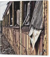 Urban Decay  Train 2 Wood Print
