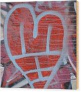 Urban Heart Wood Print