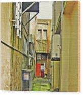 Urban Landscape-blind Alley Wood Print