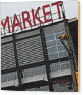 Urban Market Wood Print