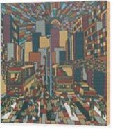 Urban Music Xll Wood Print
