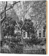 Urban Pocket Park Wood Print