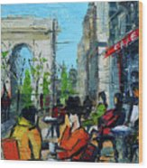 Urban Story - Champs Elysees Wood Print