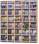 Urbanisation Wood Print