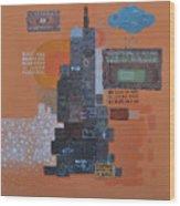 Urbanization Xiv Wood Print