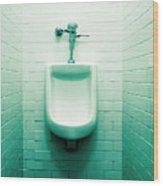 Urinal In Men's Restroom. Wood Print by John Greim