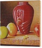 Urn An Apple Wood Print