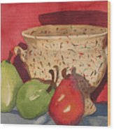 Urn With Pears Wood Print