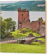 Urquhart  Castle Scotland Wood Print