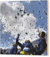 U.s. Air Force Academy Graduates Throw Wood Print by Stocktrek Images