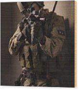 U.s. Air Force Csar Parajumper Armed Wood Print by Tom Weber