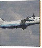 U.s. Air Force Dornier 328 Transiting Wood Print