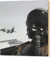 U.s. Air Force Pilot Takes Wood Print
