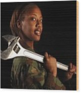 Us Air Force Senior Airman A Female Wood Print