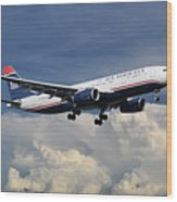 Us Airways A330-200 N280ay Wood Print