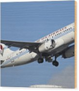 Us Airways Airbus A319-132 N828aw Phoenix Sky Harbor December 23 2010 Wood Print