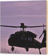 Us Army Blackhawk Wood Print