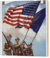 Us Army -- Guardian Of The Colors Wood Print