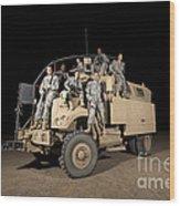 U.s. Army Medical Personnel Pose Wood Print