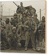 U.s. Army Soldiers Pose For A Photo Wood Print
