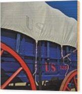 U S Army Supply Wagon Wood Print