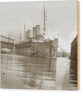 U.s. Army Transport Uss Mount Vernon 1917-1919 Wood Print