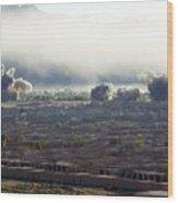 U.s. Bombs Burst During Fighting Wood Print