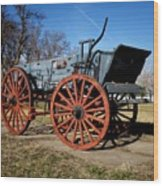 Us Buckboard Wagon Wood Print