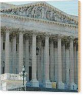 Us Capitol - Back Side Wood Print